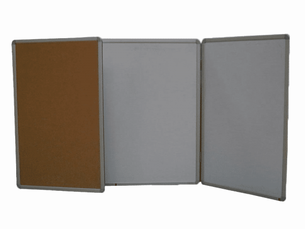 Whiteboard With Hinged Boards